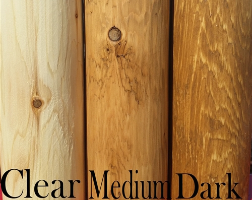 Cedar Creek Log Furniture Stain and Varnish Options