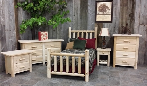 Log Bedroom Set - Modern Collection