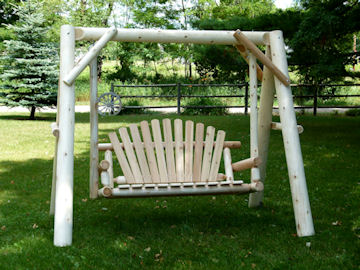 outdoor furniture - cedar swing