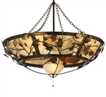 Oak Branch Chandelier with fan