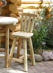 "Cedar Creek Rustic Furniture manufactures 23"" Adirondack Cedar Log Bar Stools, Made in USA."