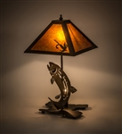 Rustic Trout Lamp