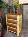 4 Drawer Log Dresser / Cottage Collection