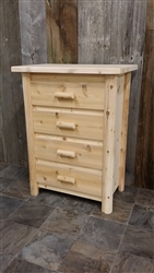 4 Drawer Log Chest / Modern Collection