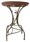 Rustic iron pine accented bar table