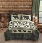 Bear Star Quilt Set/ with 2 Shams