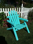 Adirondack Cedar Log Chair / Aqua Blue