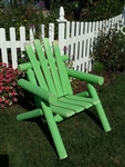 Adirondack Cedar Log Chair / Lime Green