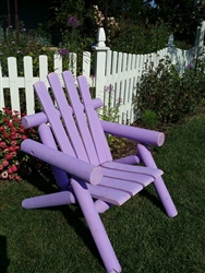 Adirondack Cedar Log Chair / Purple