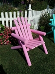Adirondack Cedar Log Chair / Pink