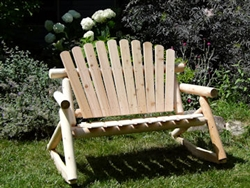 Double Rustic Log Cedar Rocker made from Michigan Cedar Logs, made in USA by Cedar Creek Rustic Furniture Store.