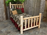 log beds made of cedar logs from Michigan.  Cedar beds will add warmth to any decor you have going, in your home or cottage.