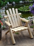 Our log chairs are comfortable with their contoured seats and angled backs.  Log chairs from Cedar Creek Rustic Furniture are 100% white cedar.