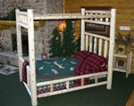 Rustic Log Canopy Bed