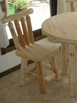 Cedar Creek Furniture Store custom crafts Rustic Cedar Log Dining Chairs made from Michigan white cedar.