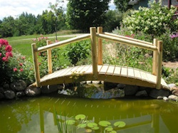 Cedar Creek Rustic Furniture Manufactures 8u0027 Custom Made Log Cedar Bridges, Garden  Pond Bridges