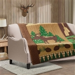 Moose Wilderness Quilt Throw