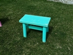 Blue Outdoor Bench/Aqua Blue