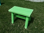 Green Outdoor Bench/Lime Green