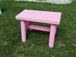 Outdoor Log Bench/Pink