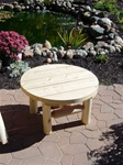 Round Log Table made in America