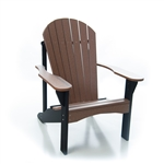 Poly Adirondack Chair/ Mesquite and Black