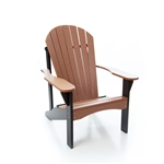 Poly Adirondack Chair/ Pecan and Black