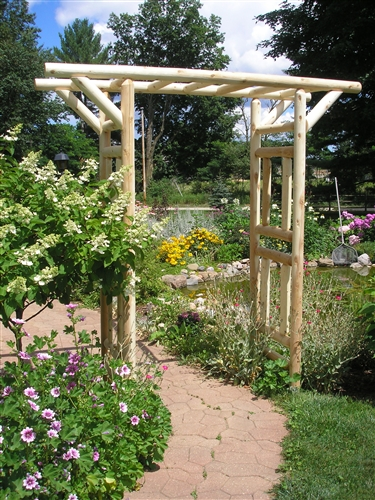 Log Pergola Rustic Garden Arbor Cedar Creek Furniture