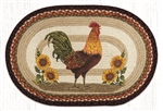 Sunflower Rooster Rug