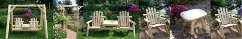 Outdoor Wood Furniture Set