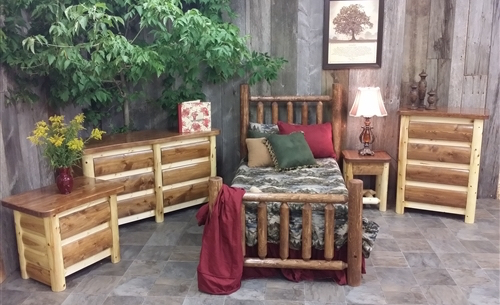 Cedar Log Bedroom Set   Cottage Collection