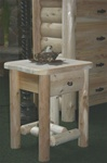 Cedar log night stand