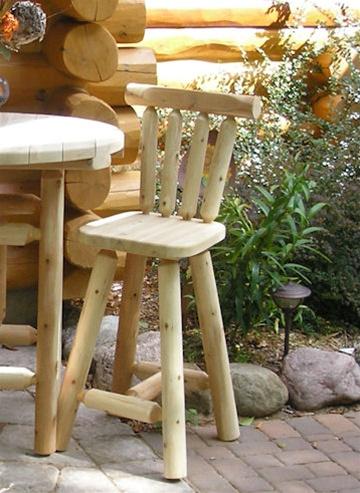 Alternative Views & Cedar Log Bar Stool with Back | Adirondack Bar Stool