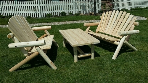 Cedar Bench & Table Set | Outdoor Bench and Table