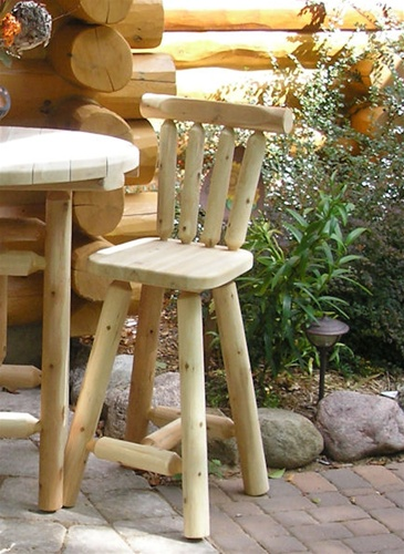 Awesome Cedar Log Bar Stool W Back 30 Lamtechconsult Wood Chair Design Ideas Lamtechconsultcom