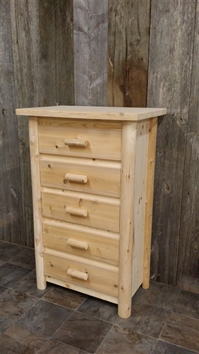 5 Drawer Log Dresser Modern Collection