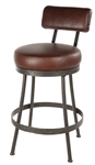Iron rustic bar stool with back