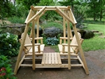 Cedar Creek Furniture manufactured Double Facing Log Glider Swing  made in USA