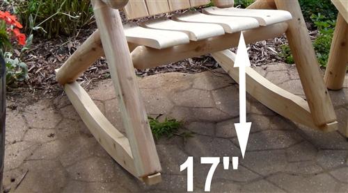 Double Rustic Cedar Log Rocker Chair
