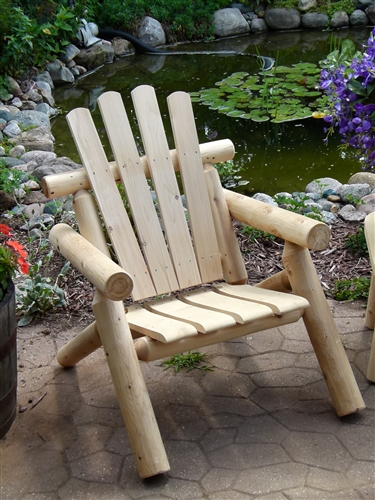 Alternative Views & Adirondack Log Chair | Cedar Chair | Cedar Creek Furniture