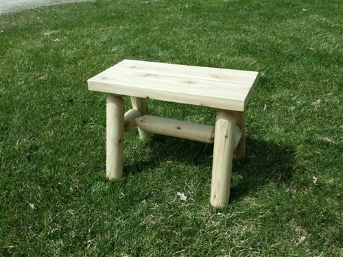 Outdoor 2-Foot Log Bench: Cedar Log