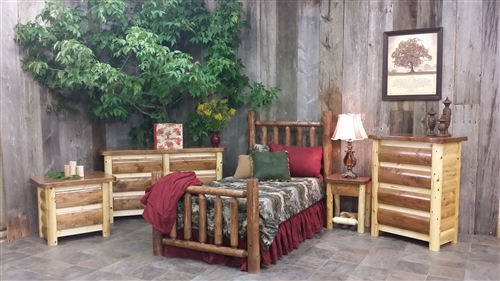 Cedar Log Bedroom Furniture | Rustic Log Bedroom Sets