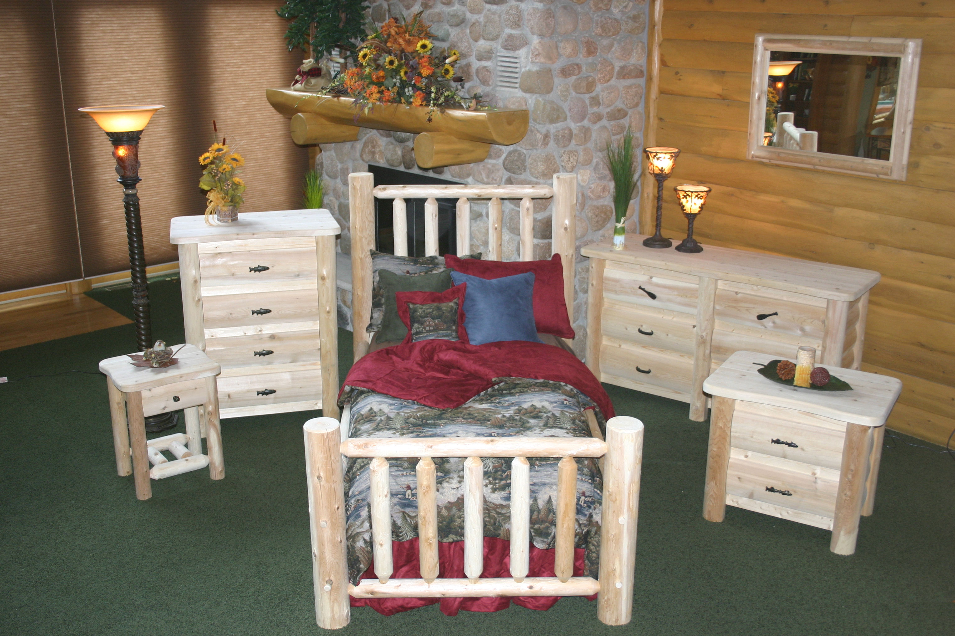 Cedar Creek Furniture Store | Custom Cedar Log Furniture ...